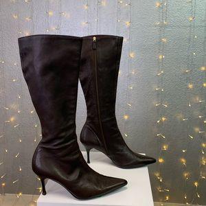 Gucci Stivali Stiletto Leather Boots